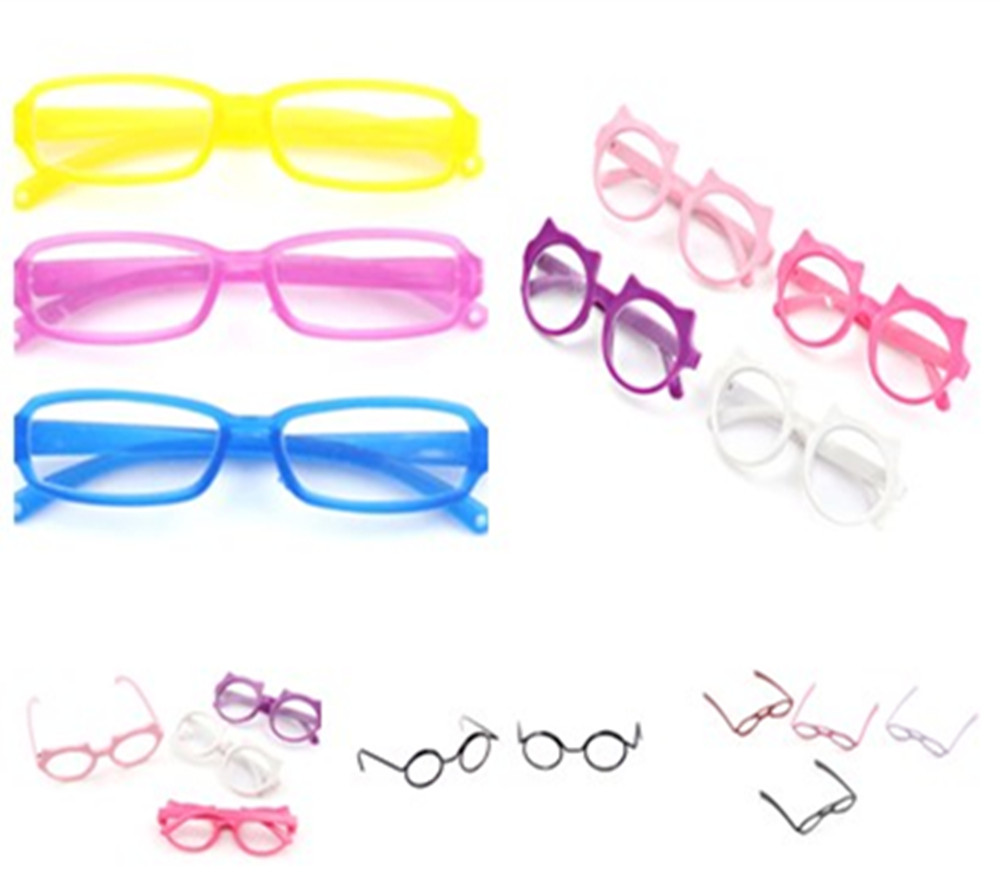 Lensless Retro Plastic Fashion Cool Square-shaped DIY <font><b>Glasses</b></font> For 1 / 6 <font><b>BJD</b></font> Blyth Doll Accessories For Dolls image