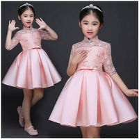 Cute Fashion Atmosphere Silver Child Performance Clothing Girl Dresses Princess Dresses Kids Dresses2 16Y