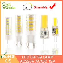 1pcs/5pcs LED Lamp G4 G9 led bulb Dimmable AC/DC 12V 220V 3W 6W 10W COB SMD LED G4 G9 Ceramic Replace Halogen Light Chandelier стоимость