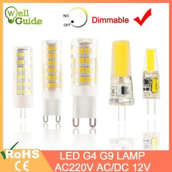 цена на 1pcs/5pcs LED Lamp G4 G9 led bulb Dimmable AC/DC 12V 220V 3W 6W 10W COB SMD LED G4 G9 Ceramic Replace Halogen Light Chandelier