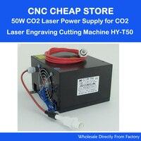 HY T50 220V/110V 40W 50W Tube CO2 Laser Power Supply PSU Equipment DIY Engraver/ Engraving Cutting Laser Machine 3020 3040 3050