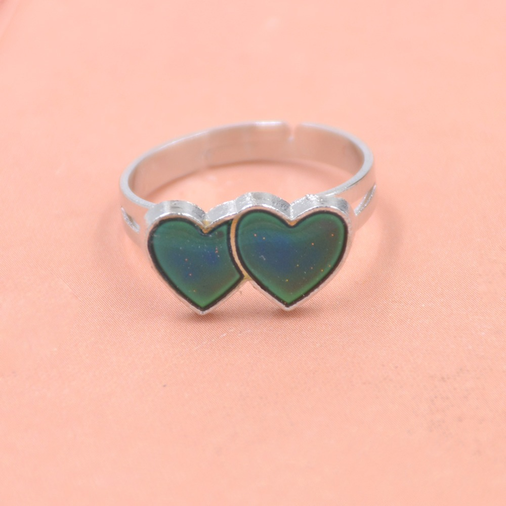 Double hearts mood rings change color rings temperature ring in rings from jewelry accessories on aliexpress com alibaba group