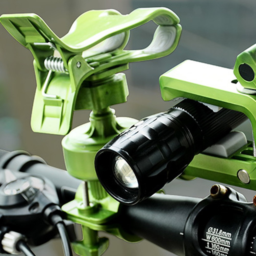 MTB Bicycle Grip Bike Mount Clamp Clip Holder Flashlight LED Torch Lamp Cycle Light Hand ...
