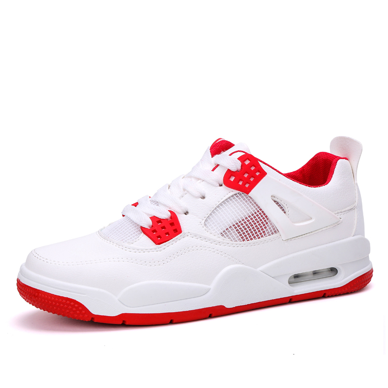 New Air Cushion Bakset Homme 2019 Top Brand Men Basketball Shoes For Sneakers Mens Retro Sport Shoes White Red Male Jordan Shoes
