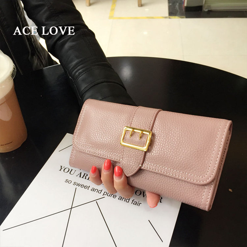 Fashion Long Women Wallets Real Genuine Leather Purse Elegant Ladies Evening Clutch Bag Walet 2017 New Hot Sale Female Wallet teemzone top european and american fashion evening bag ladies genuine leather long style hasp note compartment wallet j25