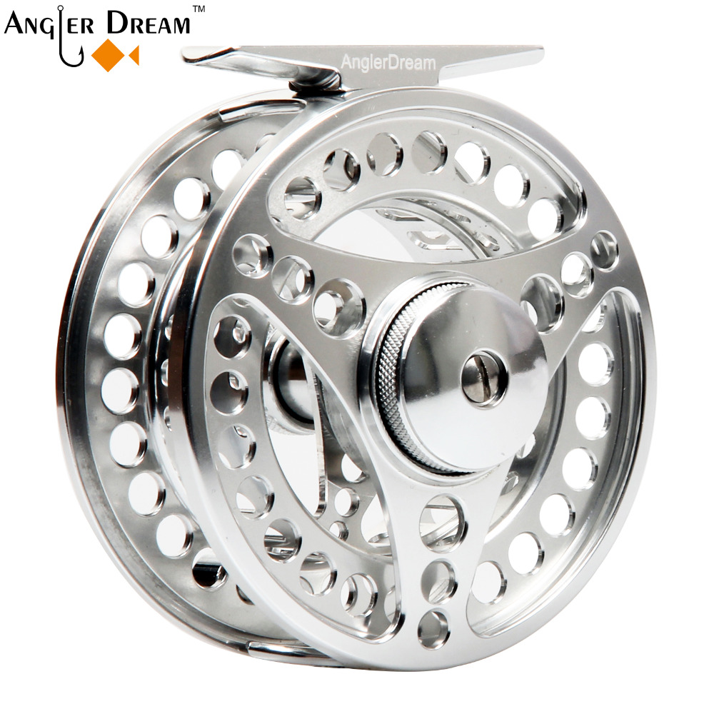 3/4 5/6 7/8 WT Fly Fishing Reel CNC Machine Aluminium Reel Fishing Aluminium Arbor Aluminum Fly Reel with bag