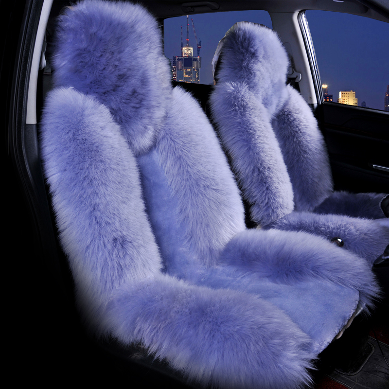 Image 2 - Wool Car Seat Cover Winter Warm Automobiles Seat Cushion Natural Fur Australian Sheepskin Auto Seats Cover Cars Fur Accessories-in Automobiles Seat Covers from Automobiles & Motorcycles