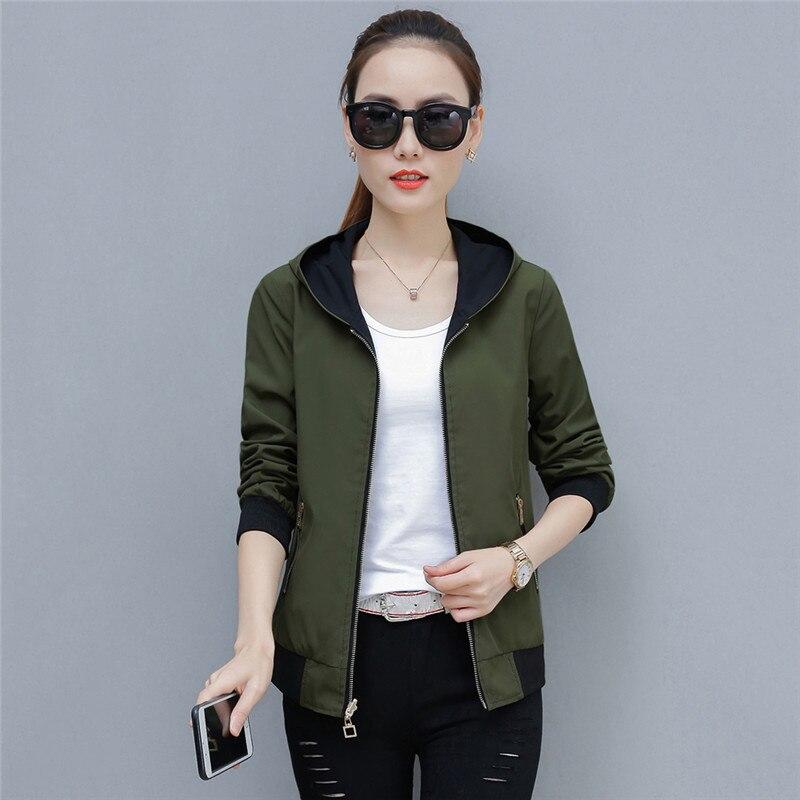 2019 Spring Autumn Large Size New Short Jacket Women Fashion Joker Female Jackets Tops Double-Sided Wear Outwear Tide TTT157 43
