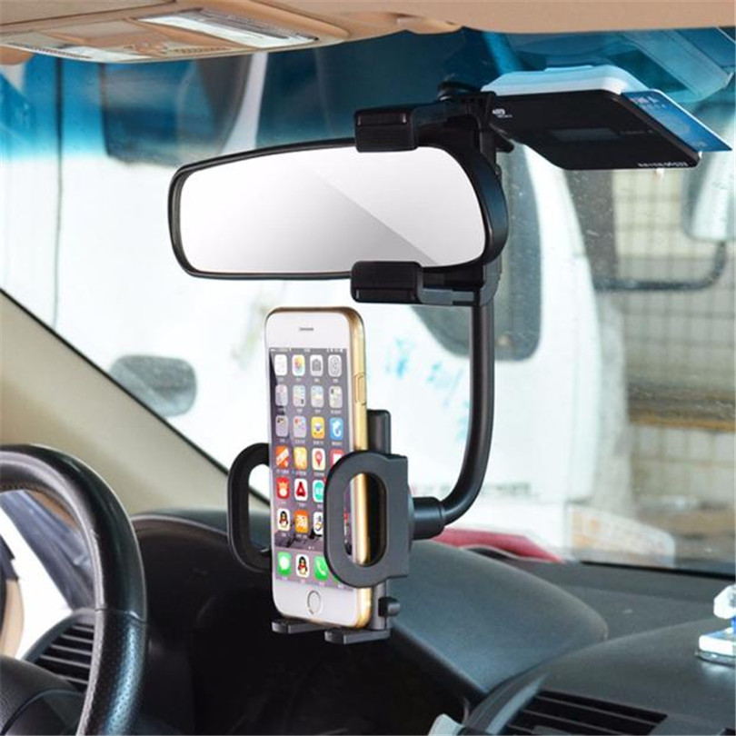 Universal Car Styling Car Rearview Mirror Mount Holder Stand Cradle For Cell Phone GPS