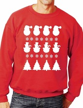Christmas Scene/Santa Sweatshirt/Jumper Unisex Christmas Gift More Size and Color-E183 christmas santa graphic pompon embellished sweatshirt