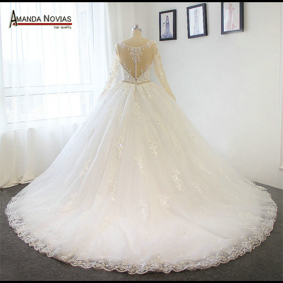 Amanda Novias Actual Photos Nice Back Wedding Dresses 2018 Ball Gown Puffy Bridal Dress In From Weddings Events On Aliexpress