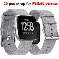 High Grade Quality Fashion Smart Watch Band Canvas Strap for Fitbit versa Cowboy Watch Accessories Bracelet Nylon Strap Belt Hot