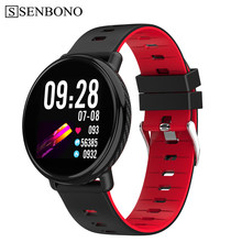 SENBONO K1 Smart Watch Men Women IP68 Waterproof Clock Activity Fitness tracker Heart rate monitor Smartwatch for IOS Android(China)