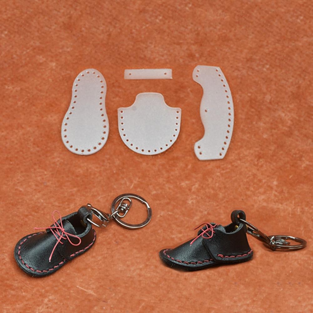 2021 Новый DIY кожаный ремесло брелок в форме обуви кулон шитье шаблон ПВХ