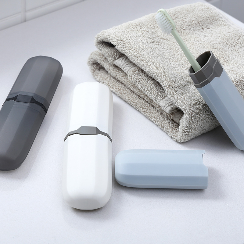 1 PC Portable Storage Box Toothbrush Travel Camping Health Toothbrush Cover Health Bath Storage Box Organizer PP Material in Storage Boxes Bins from Home Garden