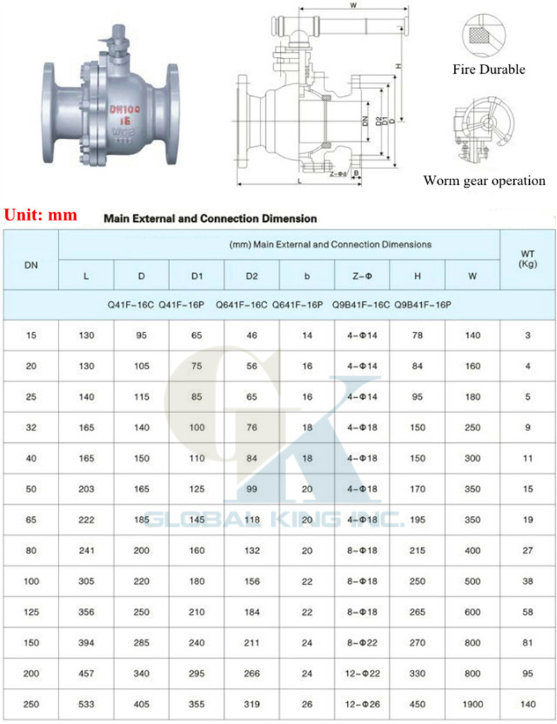 dn50 2 q41f 16c flanged ball valve fire durable body wcb ball stainless 304 in valve from home improvement on aliexpress com alibaba group [ 800 x 1041 Pixel ]
