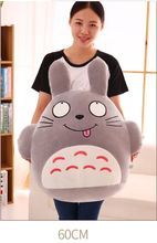 large 60cm naughty totoro plush toy gray totoro doll soft throw pillow toy,birthday present Xmas gift c913