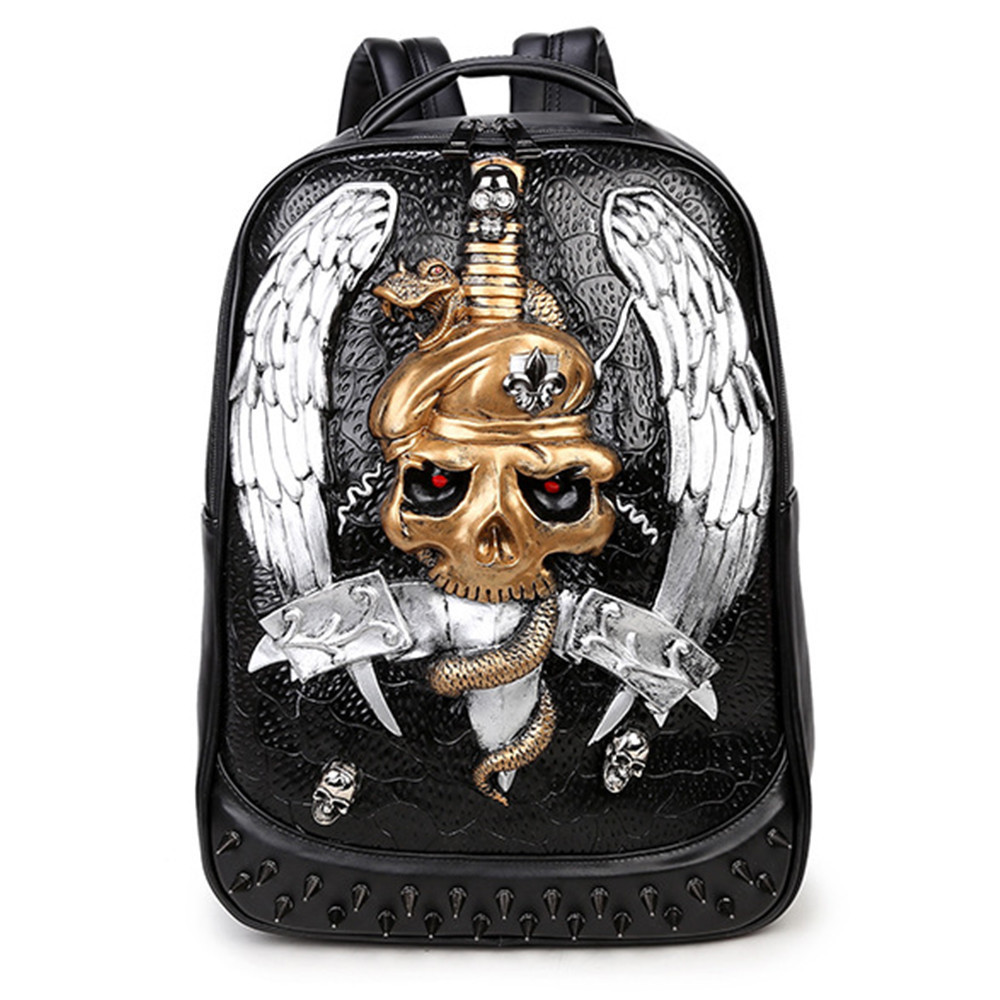 3D backpacks for men Bag PU Black Leather Men's Shoulder Bags Fashion Male Business Casual Boy Vintage Men Backpack School Bag male bag vintage cow leather school bags for teenagers travel laptop bag casual shoulder bags men backpacksreal leather backpack