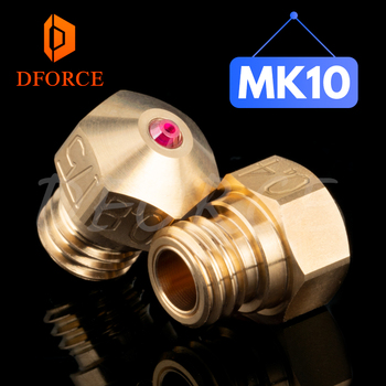 DFORCE high temperature MK10 Ruby Nozzle for MK10 HOTEND MK10 HEATER BLOCK Compatible with PETG ABS PEI PEEK NYLON etc.