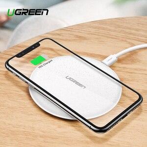 Image 1 - Ugreen Caricatore Senza Fili Per iPhone X XS 11 Pro Samsung S10 S9 Nota 9 8 Veloce caricatore senza fili Qi Wireless pad di ricarica per Xiaomi