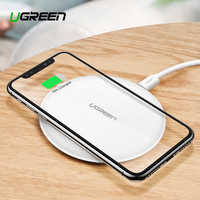 Ugreen Wireless Charger For iPhone X XS 11 Pro Samsung S10 S9 Note 9 8 Fast wireless charger Qi Wireless Charging Pad for Xiaomi