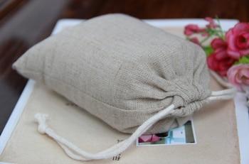 100pcs/lot CBRL  jute/linen/flax drawstring bag&pouch for toiletry/IPAD,Various colors,size customized,wholesale