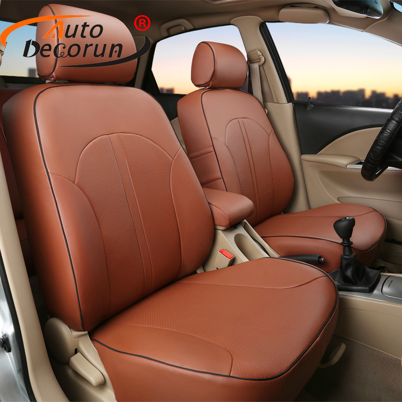 AutoDecorun Custom Cover car for Dodge avenger 2008 accessories PU leather cars seat covers for seats cushion auto head supports