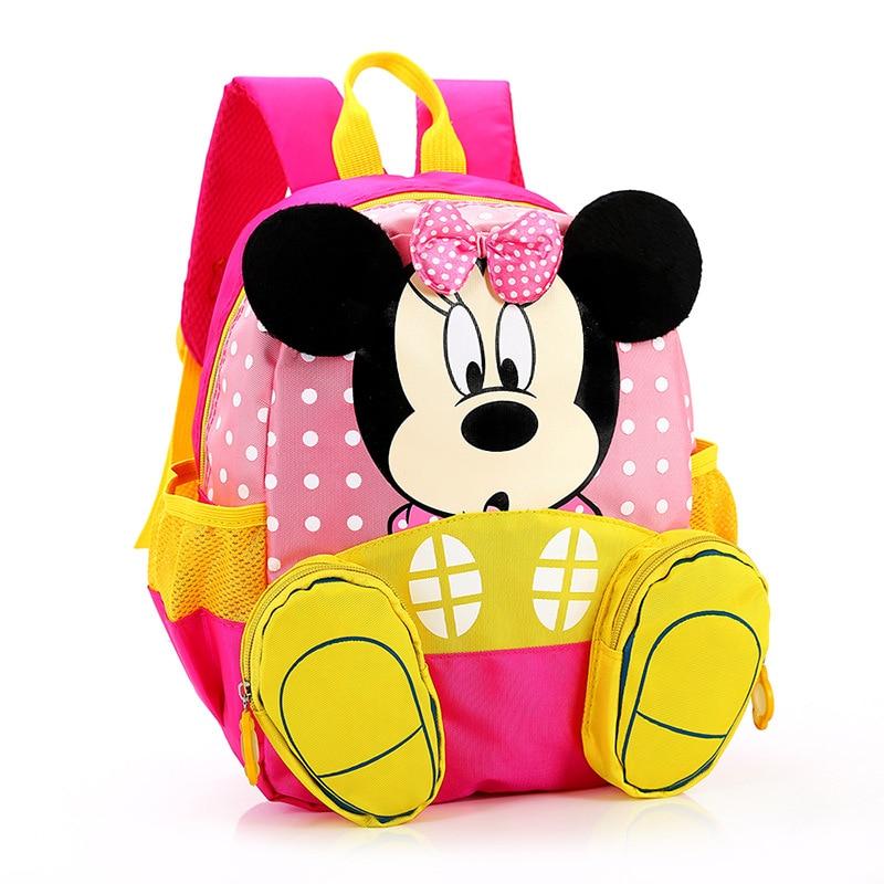 Aged 1-3 Toddler Backpack Quality Kids Baby Bag Cute Mickey Minnie Children Backpacks Kindergarten School Bag Mochila Escolar