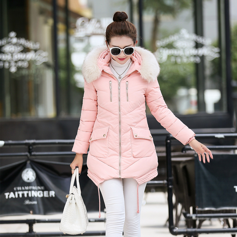 Fairy Dreams Winter Coat Women Jacket Pockets Fur Collar Parka Thickening Fashion Plus Size Clothing abrigos mujer invierno 2017