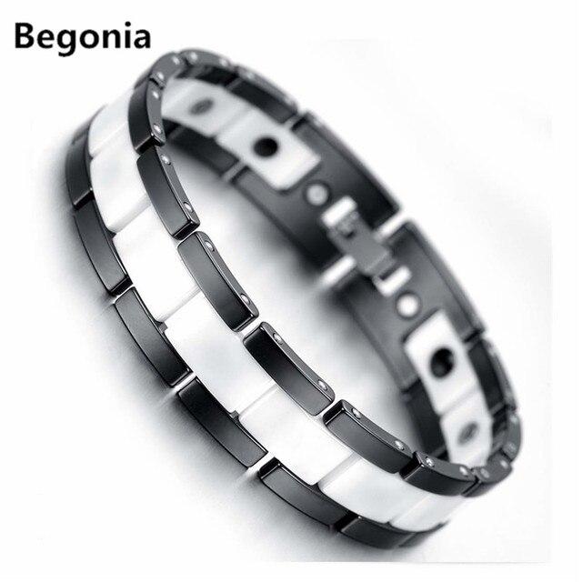 Fashion white ceramic man care bracelet Health Balance Bracelet energy magnetic Stone Jewelry