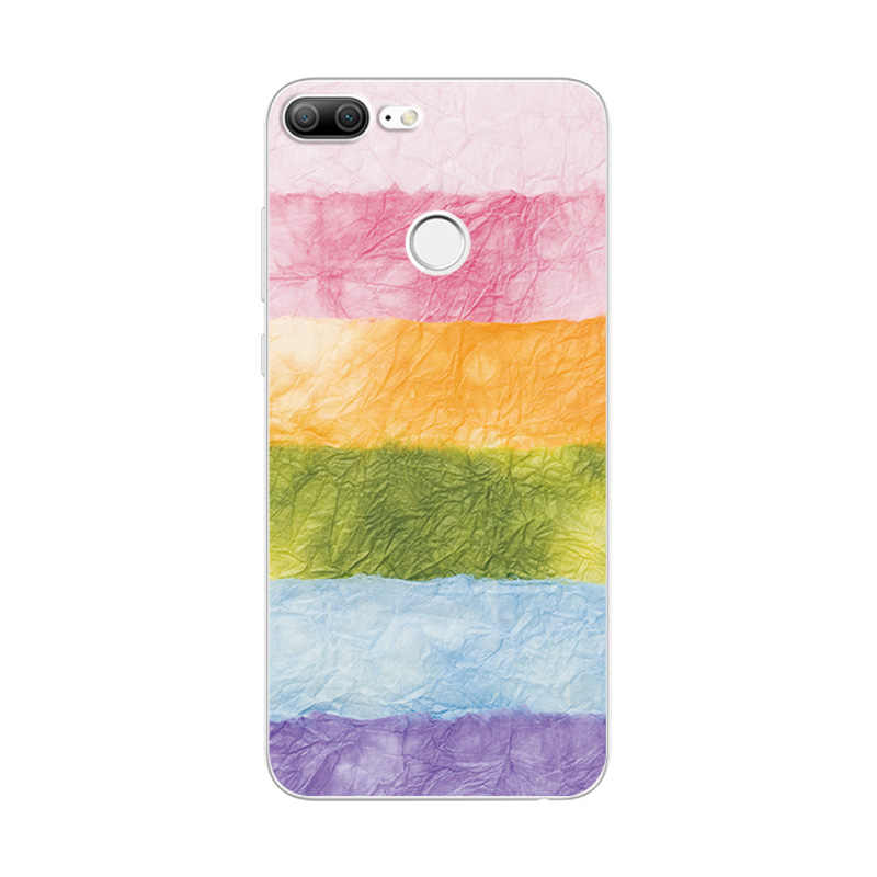 outlet store aad27 1d260 For Huawei Honor 9 Lite Case Novelty Silicone Phone Case Cover For Huawei  Honor 9 Cute Painted Covers Fundas on Honor 9 Lite