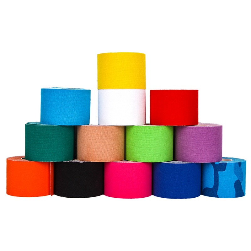 Elastic Cotton Roll Adhesive Sport Injury Muscle Tape Strain Protection Tapes First Aid Bandage Support Kinesiology Tape 5*5cm