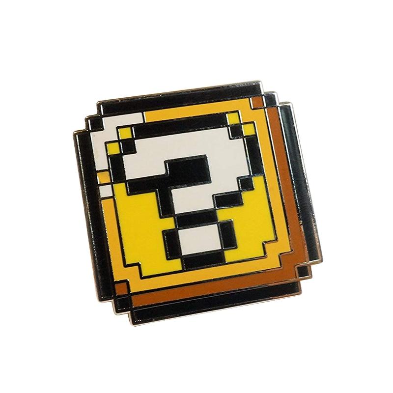 8-битный пикселей pin Nintendo Ретро игровая консоль брошь с изображением героев игр вопросительного знака бонусы значок 80s носта
