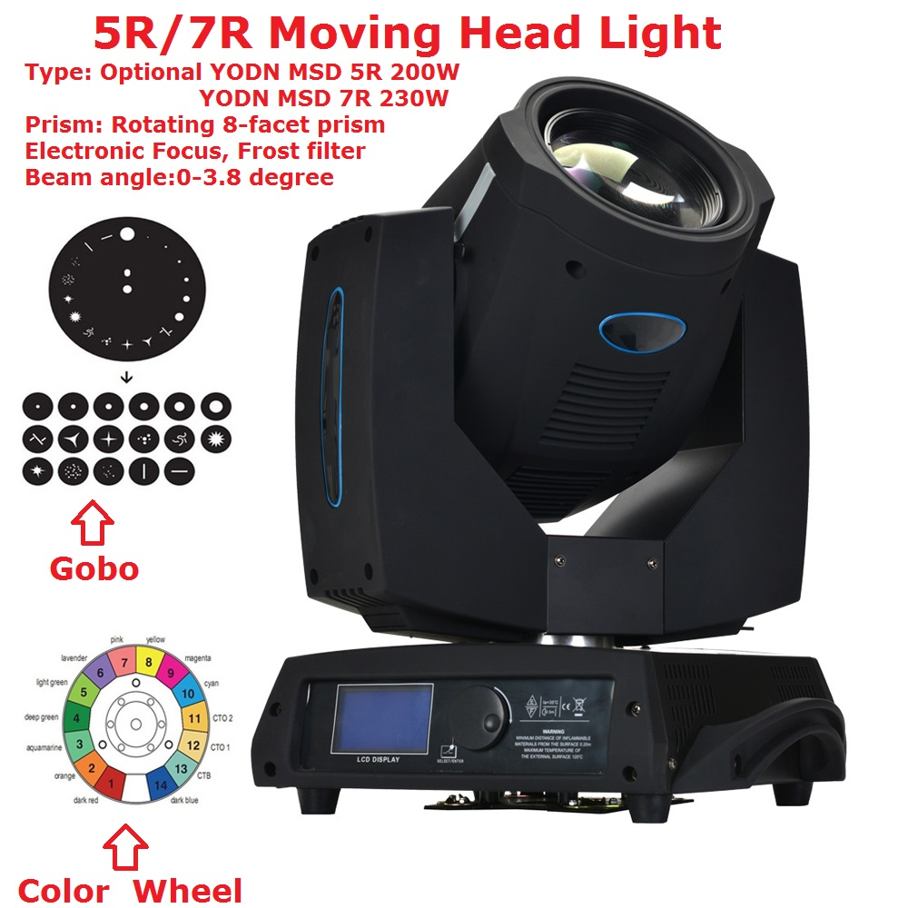 Clay Paky Lighting 5R 200W/7R 230W Yodn Lamp Bulb Moving Head Beam Light DMX DJ Disco Party Wedding Stage Effect Lights oct high with 230w beam moving head light large stage lights wedding 230 watt lamp bar