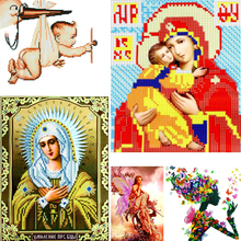 Dinamond Painting 5D diamond embroidery for Decoration Religious Series Round drill Floral Diamond Mosaic Wall Decor