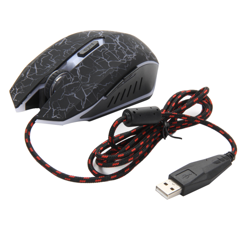 Professional Colorful Backlight 4000DPI 6 Buttons Optical USB Wired Gaming Mouse Mice Ergonomic Computer Mouse for PC Laptop