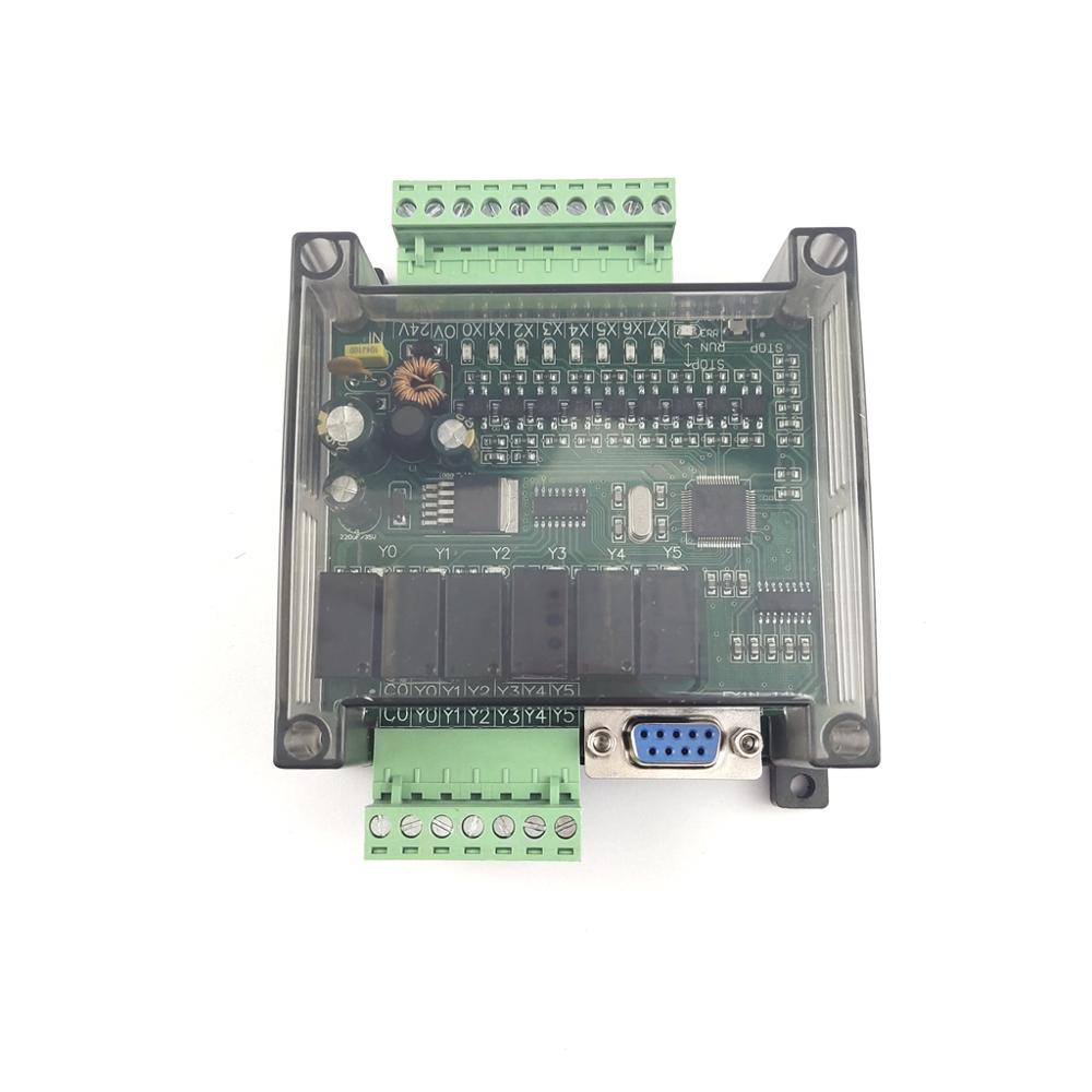 PLC Industrial Control Board With Shell FX1N-14MR FX1N-14MT Controller Programmable Module