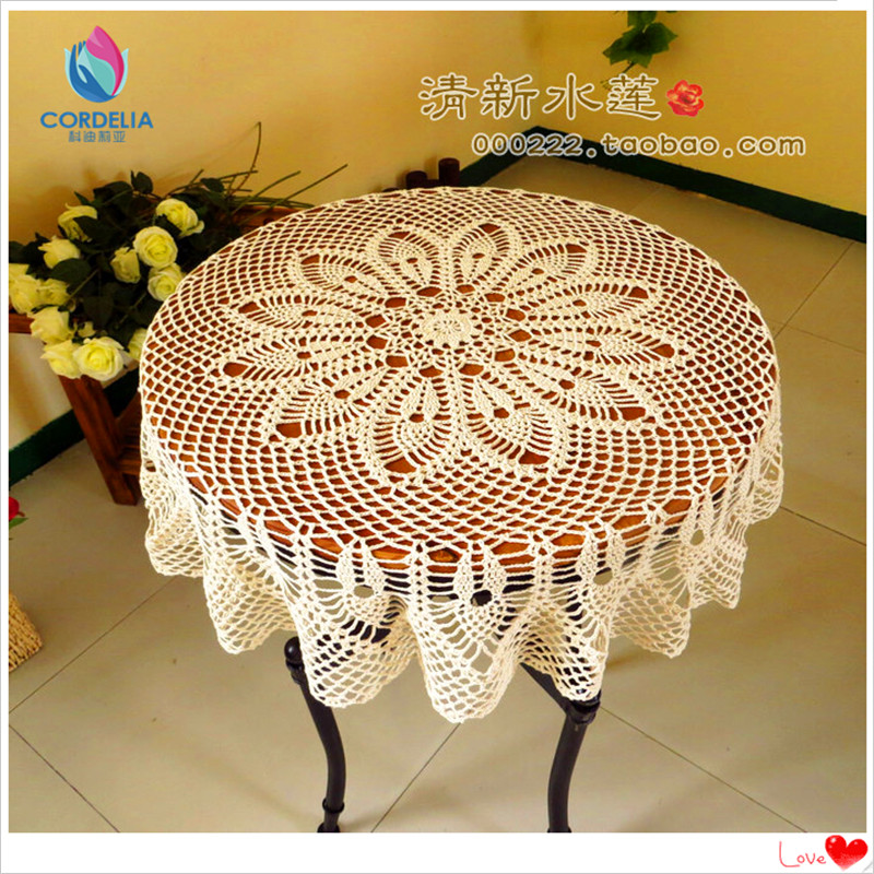 Beautiful Design Hook Needle Crochet Large Dining Table