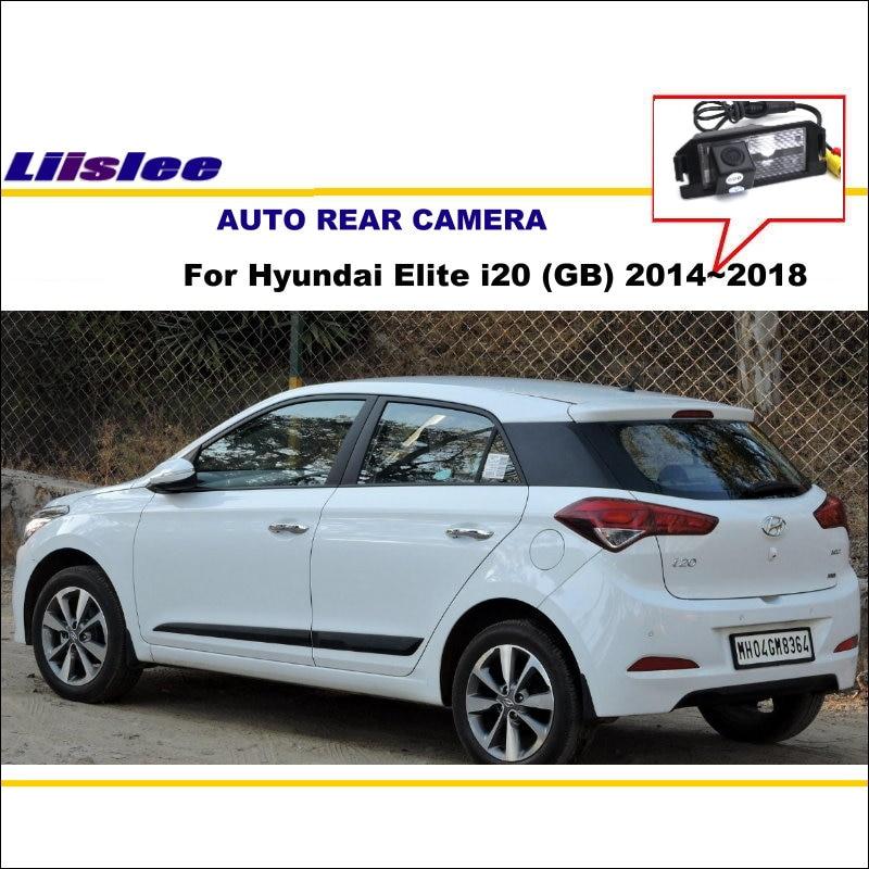 Car Rear View Camera For Hyundai Elite I20 (GB) 2014~2018 / Back Parking Camera / NTST PAL / License Plate Light OEM