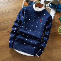 Sergio K Sweater Pullover Men V Neck Men Long Sleeve Shirt Mens Sweaters Wool Casual Printing dots Dress Brand Cashmere Knitwear