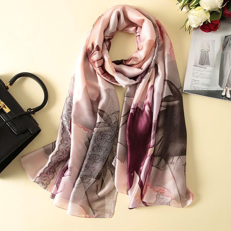 2018 Fashion Scarf Luxury 100% Silk Scarf Womens