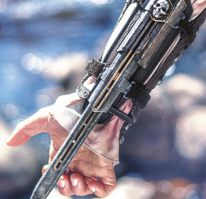 hot ! NEW 1pcs Assassins Creed 4 Four Black Flag Pirate Hidden Blade Edward Kenway Cosplay New in Box Christmas gift toy new assassin creed v unity hidden phantom blade gauntlets edward kenway cosplay prop toy 1 1 size