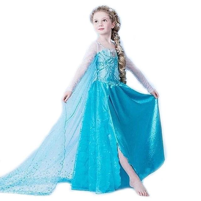 Công chúa Cô Gái Ăn Mặc trẻ em Bé Cô Gái Ăn Mặc Trẻ Em Quần Áo sốt anna elsa ăn mặc Cô Gái Cosplay Trang Phục fantasia Vestido Infantis