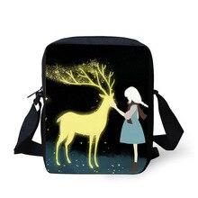 Купить с кэшбэком Cross body bag Cartoon illustration Printing Messenger Bags for Men Women Hot Small Cross Body Bags for Ladies Mens Travel Bags