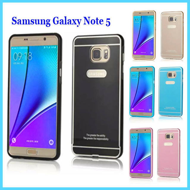 Note5 Battery Back Cover Case With Metal Frame Case Cover for Samsung Galaxy Note 5 Phone Rear Shell Protect Case 5 Color