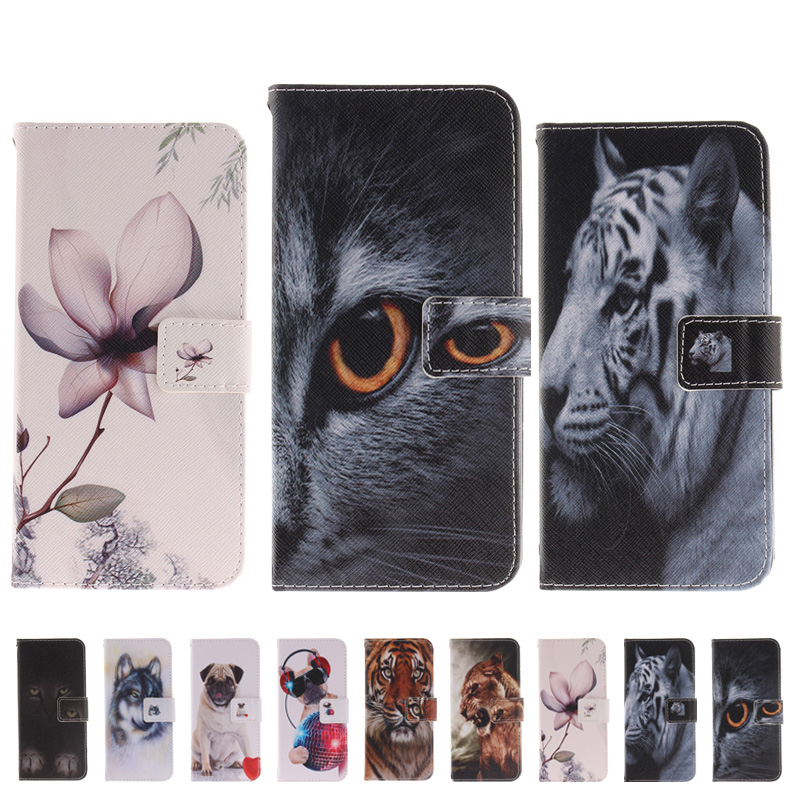 EFFELON Animal PU Leather Filp Wallet cell Phone Bag Case For Sony Xperia XA2 Ultra Mobile