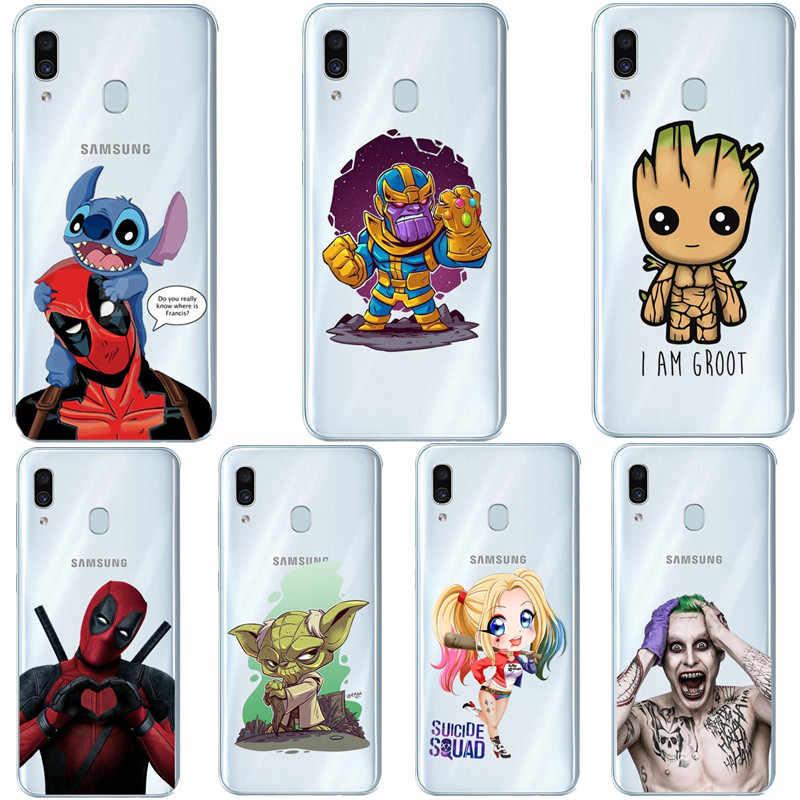 Người sắt trong Không Gian Avengers Endgame Mềm Mại Ốp Lưng Điện thoại Samsung Galaxy A7 2018 A750 A10 A30 A50 A70 A80 2019 A9 2018