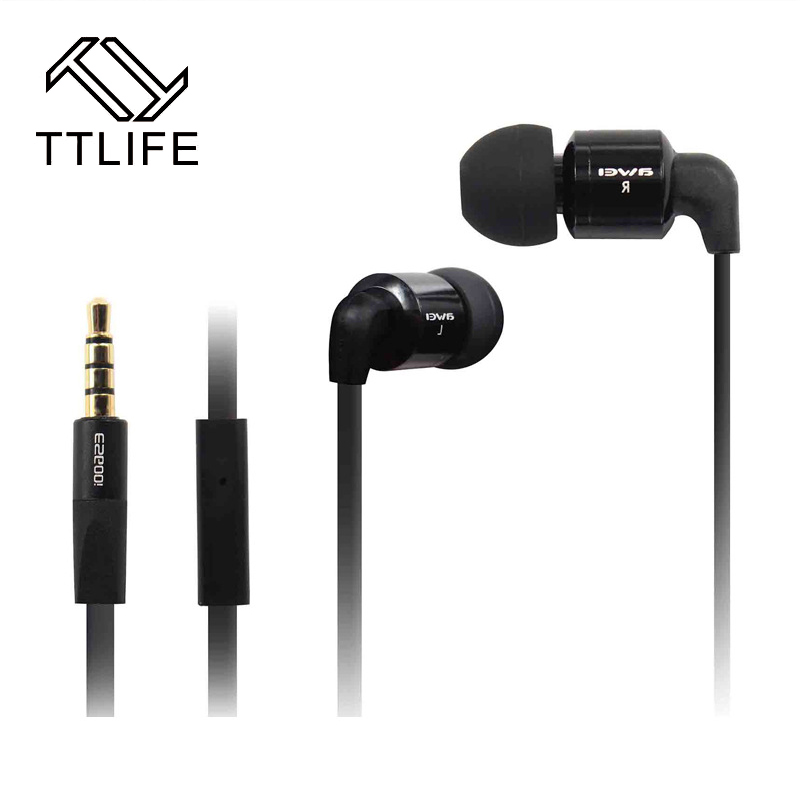 TTLIFE ES-600i Super Bass Metal HIFI Earphone Stereo Headphone With Sport Headset For Phone Xiaomi Samsung Phone sport super bass stereo earphone 3 5mm jack headset hands free headphone with mic music earphone for all phone computer pc