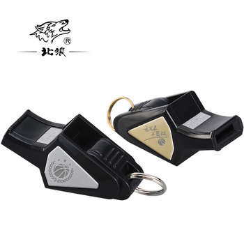 North Wolf laser lettering seedless high frequency dolphin whistle basketball referee coach sports special whistle lettering waist checked dolphin shorts