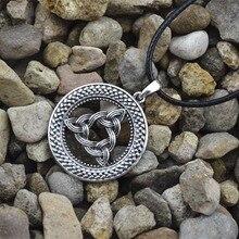 1pcs Norse Vikings Amulet Pendant Necklace Legendary Viking Trinitarian Trinity Triquetra Celttics Pendant Necklace